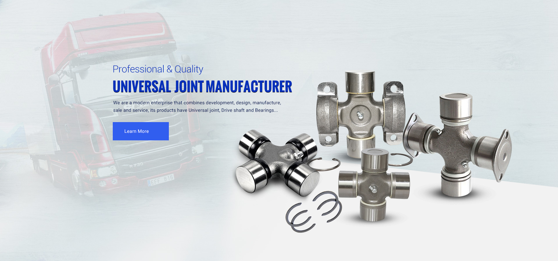 Universal joint, drive shaft and Bearings